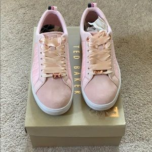 Ted Baker Woman's Pink Sneakers with Croc Detail